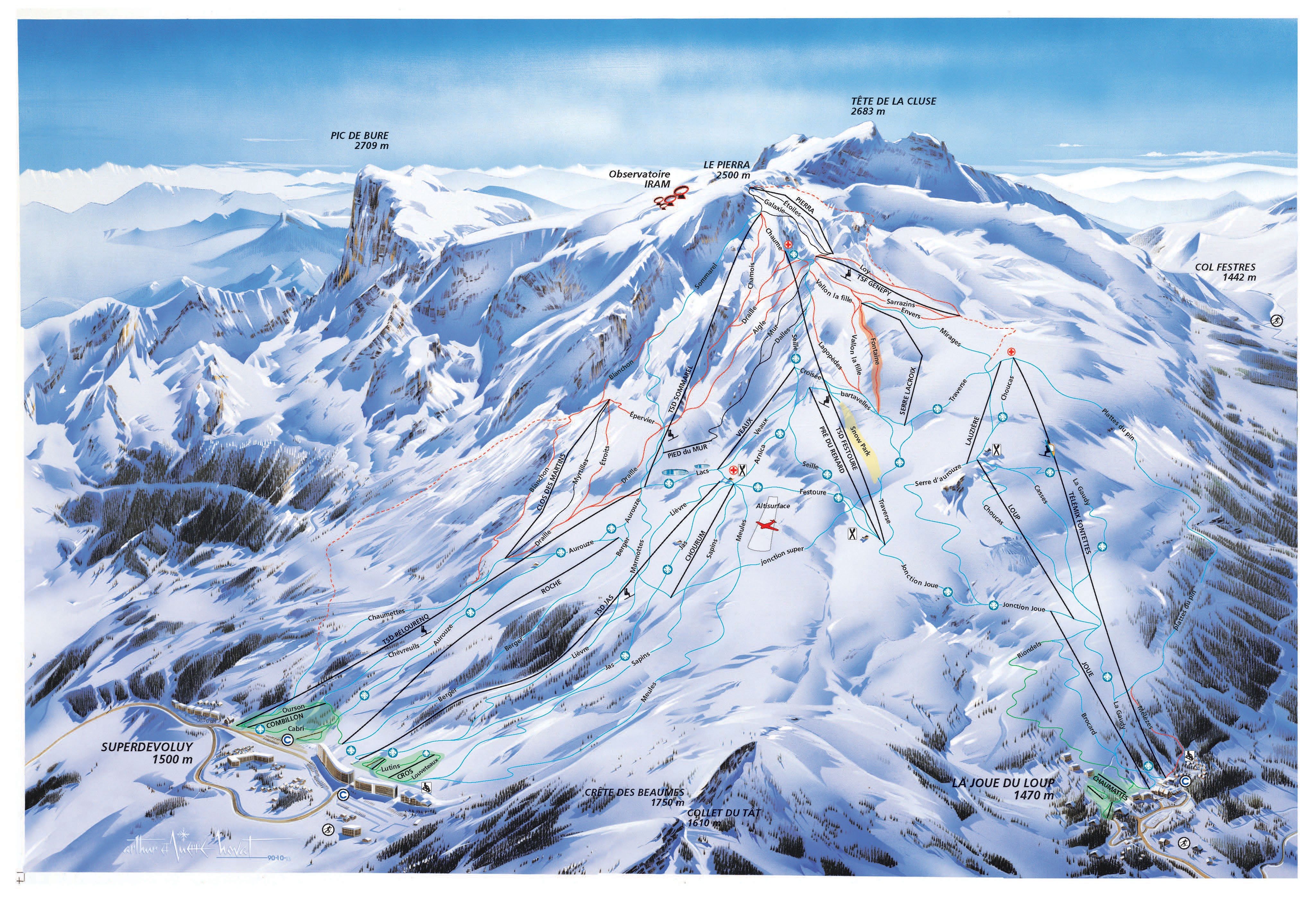Plan des pistes ski alpin le d voluy office de tourisme for Piste de ski interieur