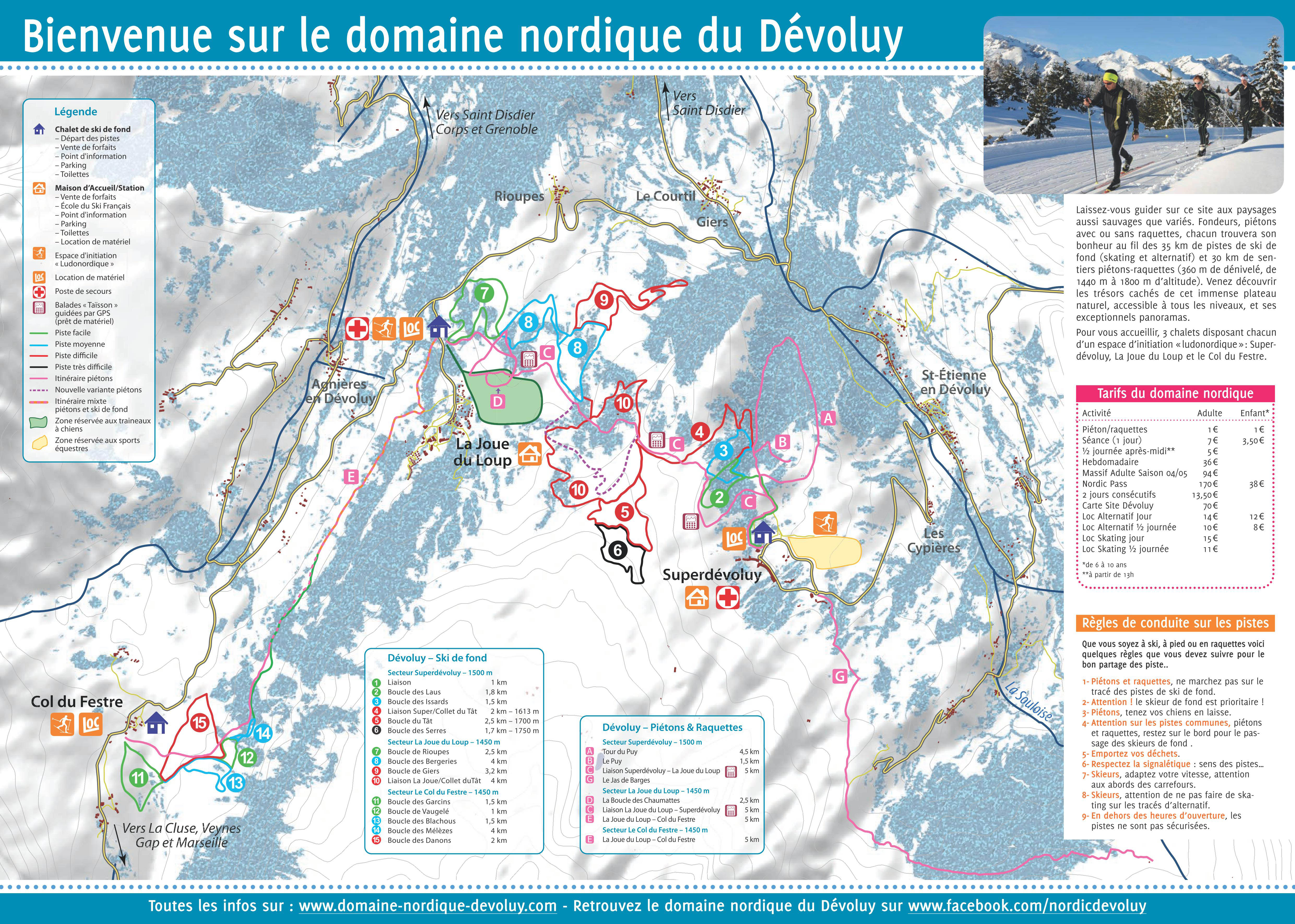 Cross country skiing le d voluy office de tourisme - Office tourisme joue du loup ...